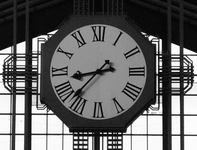 Clock at Hamburg Central-Station