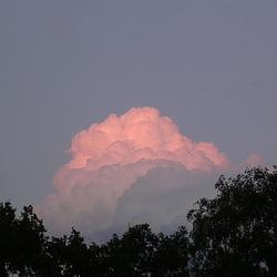 wolkenglühen