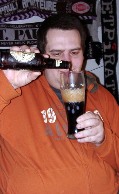 Drink a guinness with you