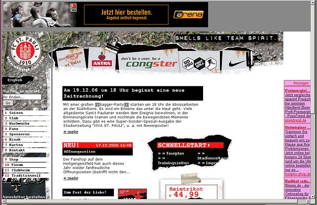 Relaunch www.fcstpauli.de