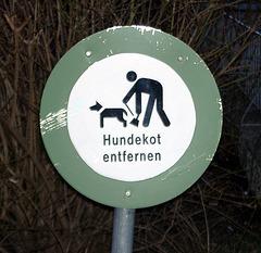 Sign against dog-shite