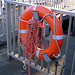 Life buoy with afoul rope