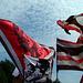 Braun-Weiss-Rote Flaggen vor Weissblauem Himmel sehen irgendwie verdampt geil aus...