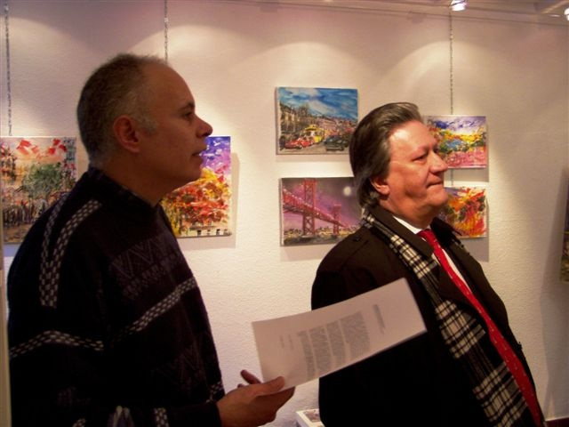 Espaço AmArte, painter Carlos Alexandre (left) exhibition