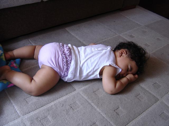 Rafaela, takes a nap