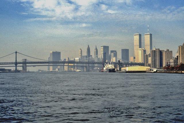 New York et les tours du World Trade Center...