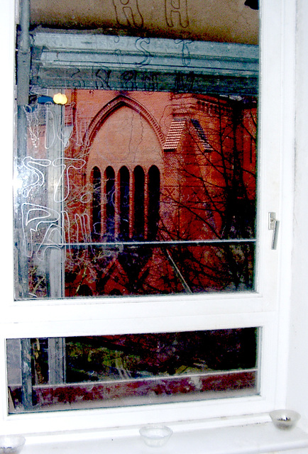 Painting messages at the window - the result