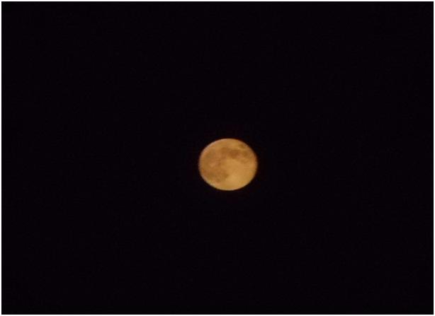 Lune orange .