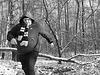 Running through the winter-brushwood