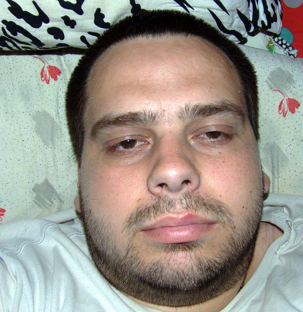 Me, sleepery with unshaped beard
