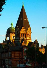 Gnadenkirche im Abendlicht