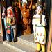 Sculptures at entrance of Harrys Hamburger Hafenbasar
