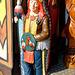Indian in front of Harrys Hamburger Hafenbasar