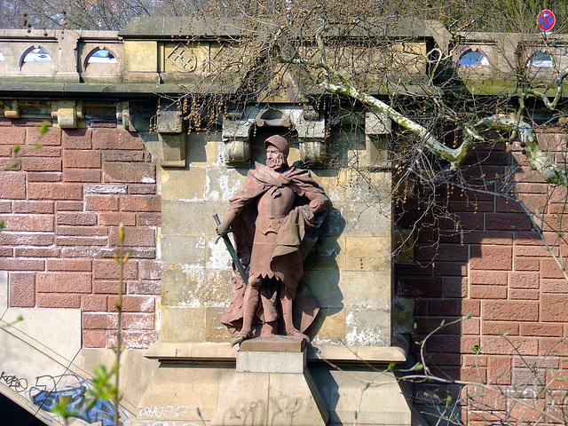 """Statue """"Simon von Utrecht"""" an Kersten-Miles-Brücke"""