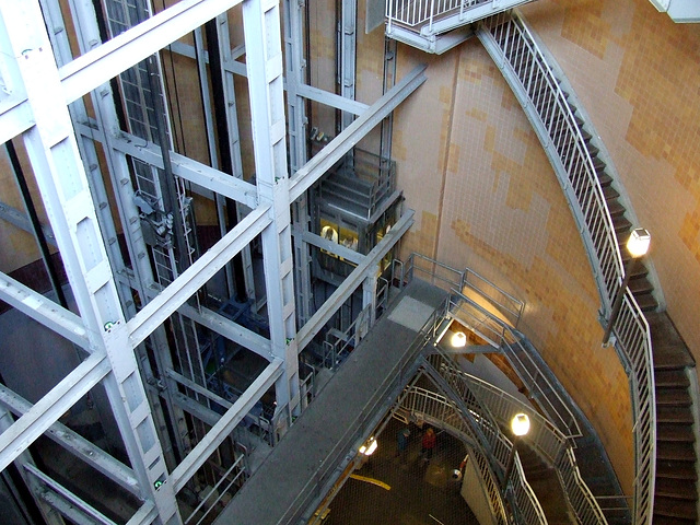 The lifts and stairs in Old Elbtunnel