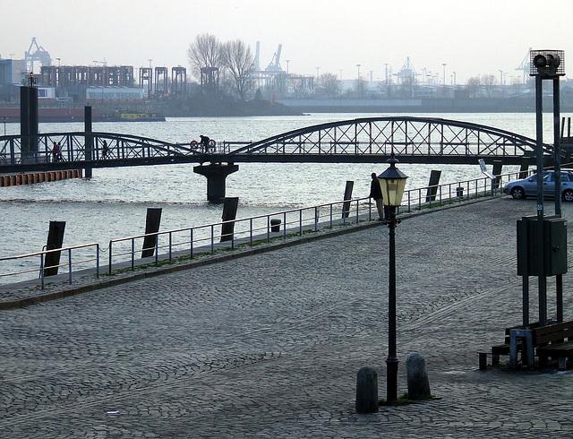 Brücke Anleger St. Pauli Fischmarkt