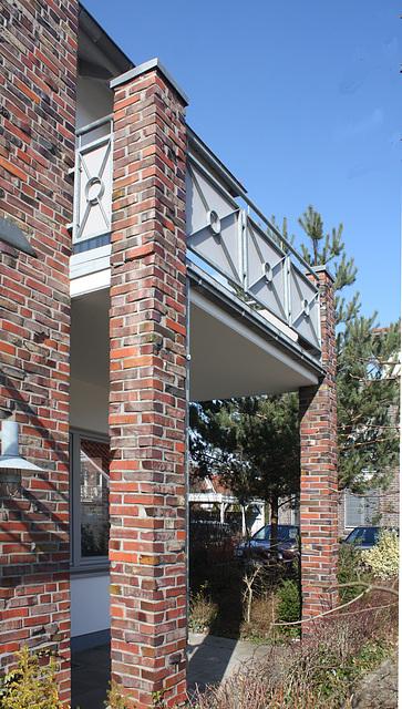 gemauerte Stützen für den Balkon