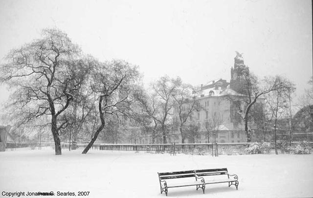 Praha Hlavni Nadrazi In A Snowy Haze, B&W version, Prague, CZ, 2007
