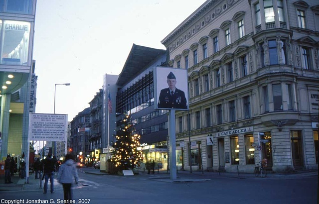 Checkpoint Charlie, East side, Berlin, Germany, January 2007
