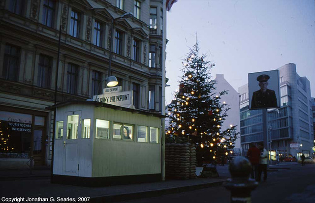 Checkpoint Charlie, West side, Berlin, Germany, January 2007