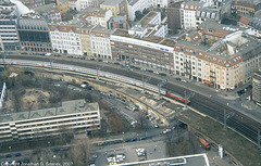 DB Intercity (or possibly Eurocity) Seen From Berlin Television Tower, Berlin, Germany, 2007