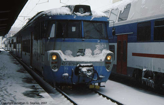 CD #451 079-8 In The Snow, Masarykovo Nadrazi, Prague, CZ, 2007