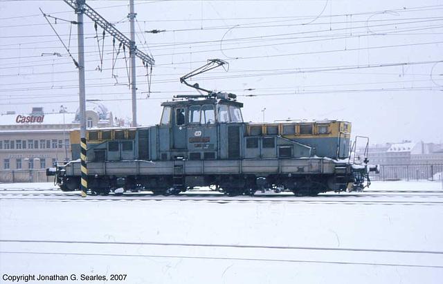 CD #110 032-0 In Snow On The North Throat Of Praha Hlavni Nadrazi, Prague, CZ, 2007