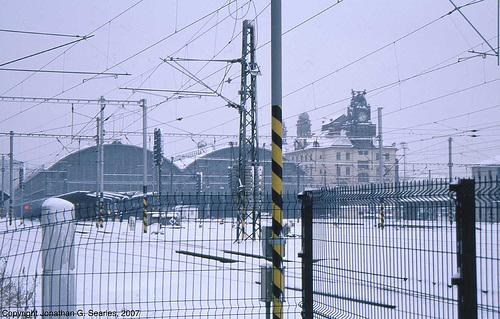 Praha Hlavni Nadrazi, North Throat, Covered In Snow, Prague, CZ, 2007