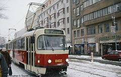 DPP #8402 In The Snow, Karlovo Namesti, Prague, CZ, 2007