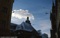 Contrails Over Jindrisska, Prague, CZ, 2007