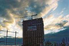 Sunset, City Tower, Pankrac, Prague, CZ, 2007