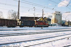 Class 742 Diesel With Freight In The Snow, Cercany, Bohemia(CZ), 2007