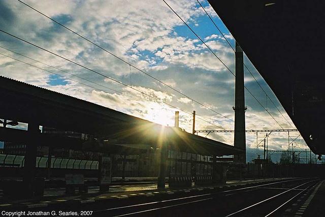 Sunset, Nadrazi Holesovice, Holesovice, Prague, CZ, 2007
