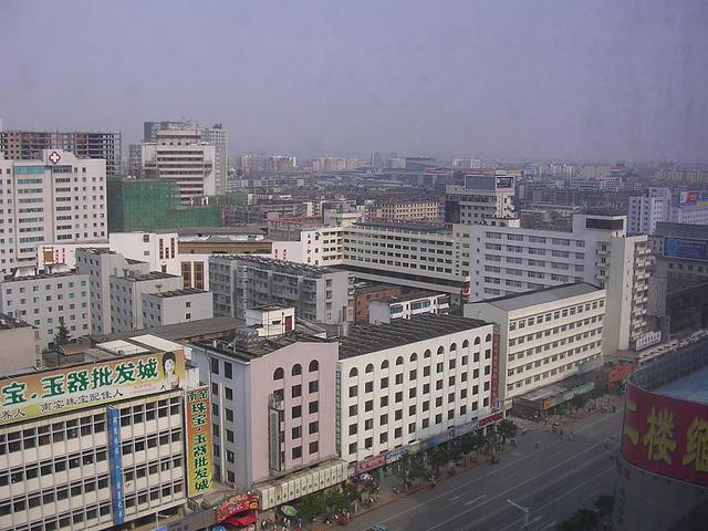 Kunming - Blick aus dem Hotelfenster