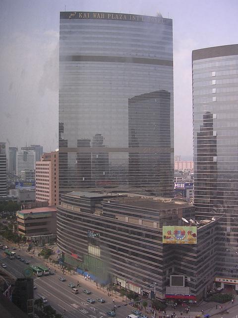 Kunming - Blick aus meinem Hotelfenster