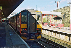 Metro Trains #155344, Bradford Interchange, Bradford, West Yorkshire, England(UK), 2007