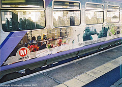 Metro Trains Advertising Livery On A Class 155 DMU, Bradford Interchange, Bradford, West Yorkshire(UK), 2007