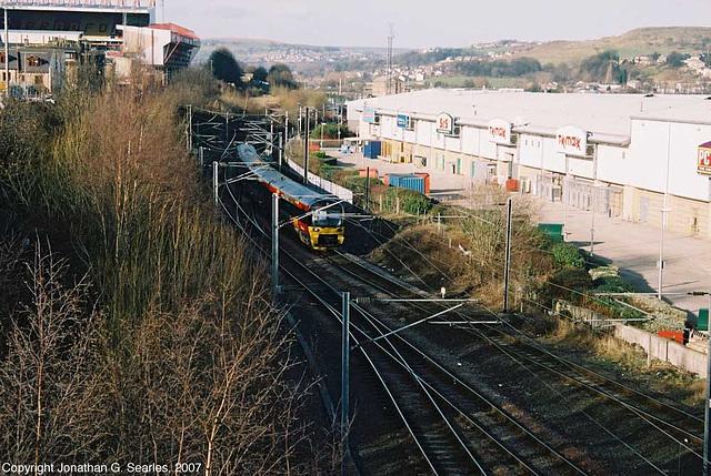 Class 333 EMU Arriving At Bradford Forster Square, Bradford, West Yorkshire, England(UK), 2007