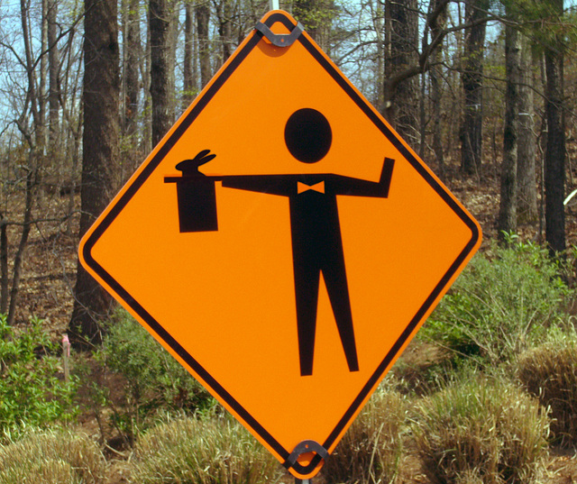 Caution: Magician Ahead!