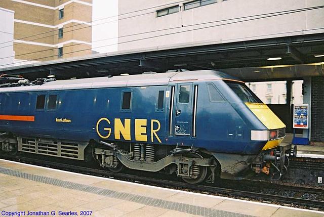 """GNER #91106, """"East Lothian,"""" Picture 2, Leeds New Station, Leeds, West Yorkshire, England(UK), 2007"""