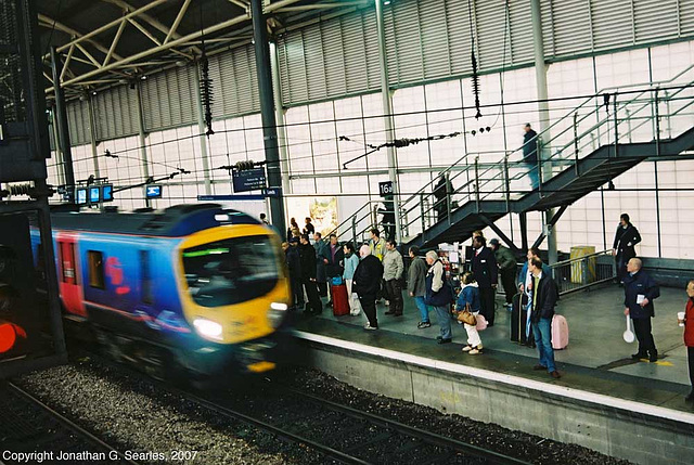 Class 185 DMU Arriving At Leeds New Station, Leeds, West Yorkshire, England(UK), 2007
