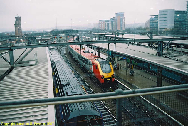 Virgin Voyager In The Rain At Leeds New Station, Leeds, West Yorkshire, England(UK), 2007