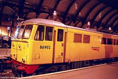 "Network Rail #86902, ""Rail Vehicle Engineering,"" York Central Station, York, North Yorkshire, England(UK), 2007"