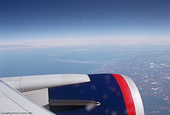 Aerial Shot Of Cape Cod From Boeing 767 Over Boston, MA, USA, 2007