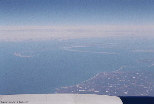 Aerial Shot Of Cape Cod From Boeing 767 Over Boston, Picture 2, Boston, MA, USA, 2007