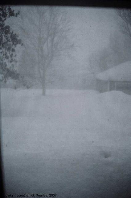 Snowstorm, Clinton, NY, USA, 2007