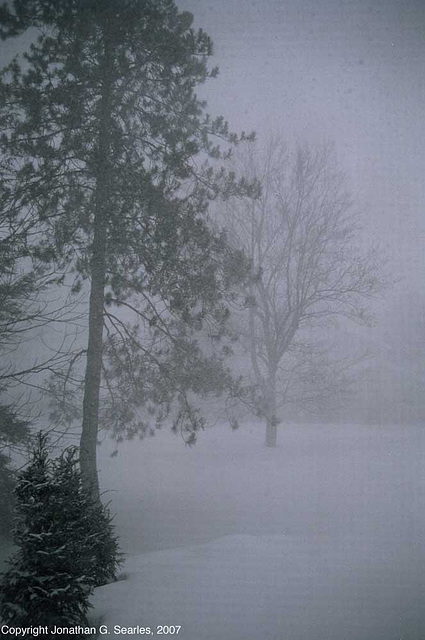 Snowstorm, Picture 2, Clinton, NY, USA, 2007