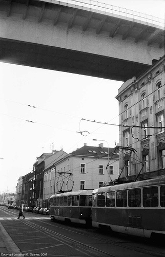 Svatoplukova Tram Stop Under The Nuselsky Most, Svatoplukova (Nusle), Prague, CZ, 2007