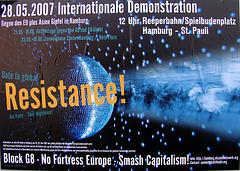 Block G8 - No Fortress Europe - Smash Capitalism!