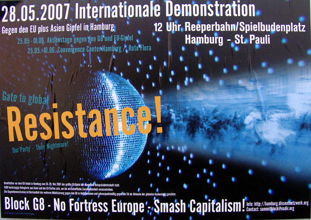 Block G8 - No Fortress Europe - Smash Capitalism!